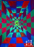 trippy psychedelic hallway