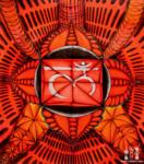 trippy red graphic